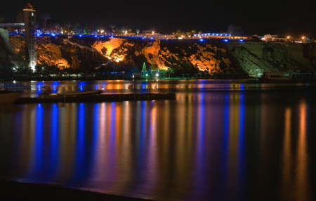 Night view on sea. Egipt. Sharm el Sheikh. Stock Photo