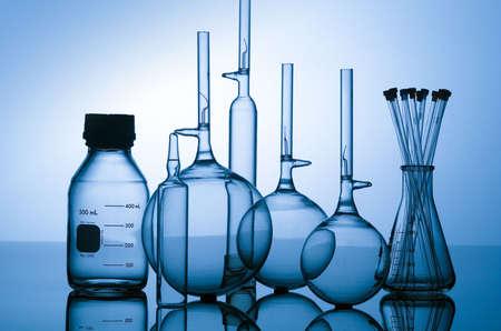 Blue vials Stock Photo