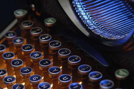 typebar: Vintage typewriter keys and typebar