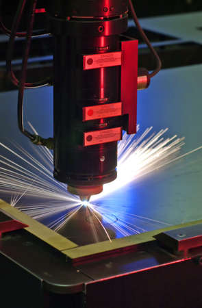 Laser cutting machine Stock Photo