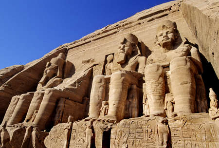 giant statues at abu simbel, egypt