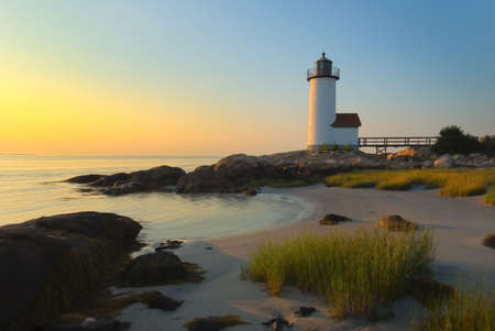 Anisquam lighthouse Stock Photo - 4006486