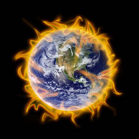 Fire globe Stock Photo