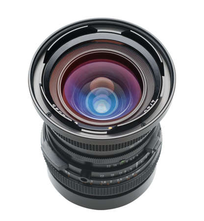 Angled camera lens with path