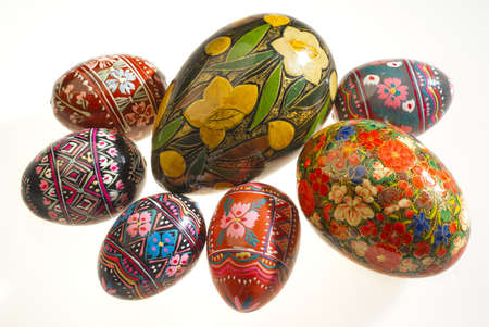 Russian painted eggs photo