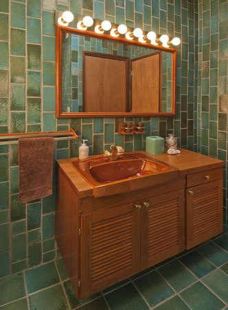 緑のバスルーム