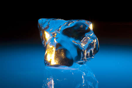 Sculptural blue chunk of ice