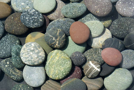 River stones submerged