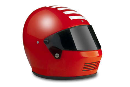 Red racing helmet  photo