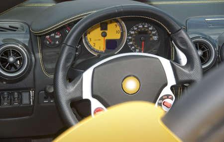 Stuurwiel en dashboard