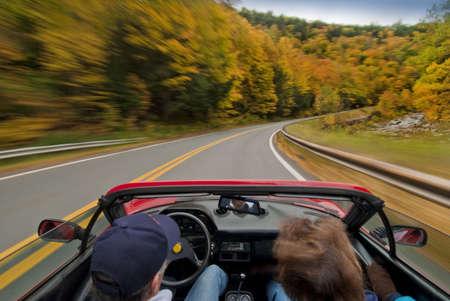 Fall foliage drive Stock Photo