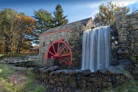 Water powered rist mill in new england