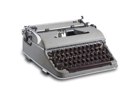 Vintage top quality west german portable typewriter from the 1950 and 1960 Banco de Imagens