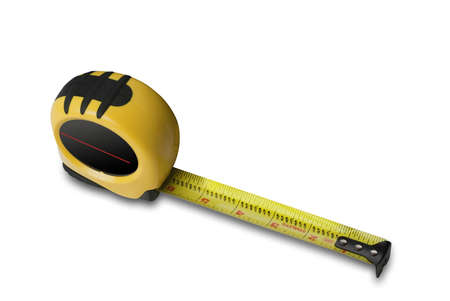 Tape measure on white with shadow