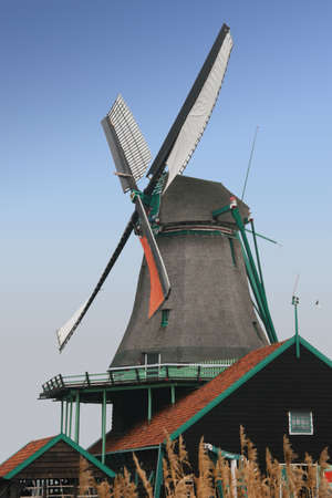 the netherlands: Big windmill in the Netherlands
