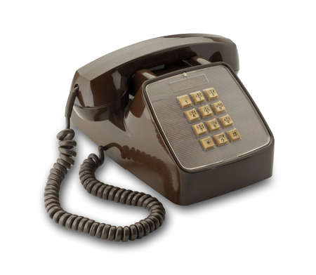 Vintage brown touch key phone