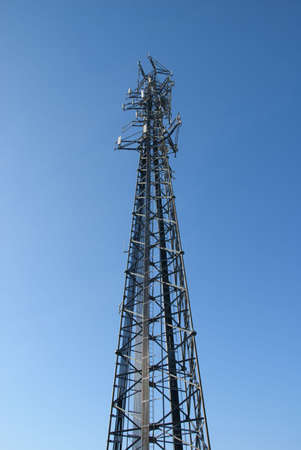 Wide shot of cell tower