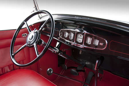 Classic car interior from the 1930ies Фото со стока