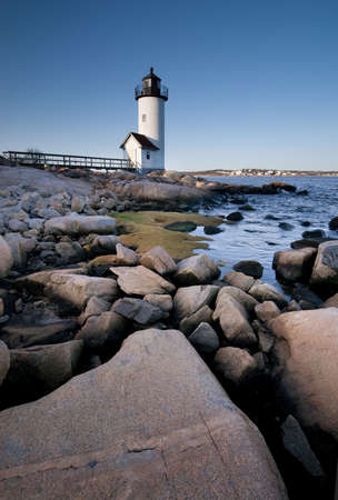 New England lighthouse located in Anisquam, Massachusetts Stock Photo - 6834593