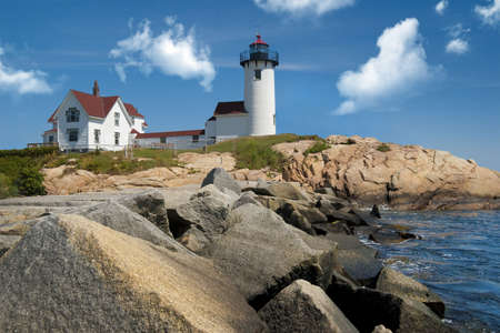 Eastern point lighthouse located off the coast of Gloucester, Massachusetts, USA