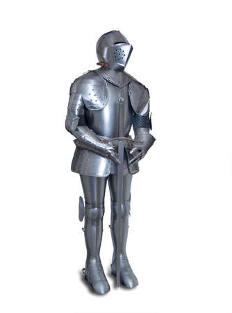 Suit of armor, isolated with shadow Stock Photo - 7976667