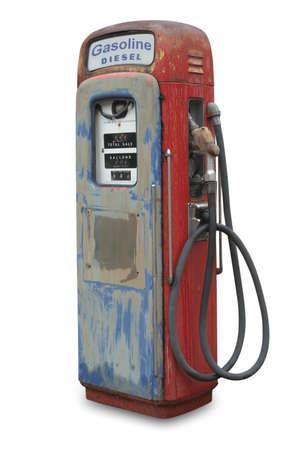 old service station: Gas, pompa del carburante  Archivio Fotografico