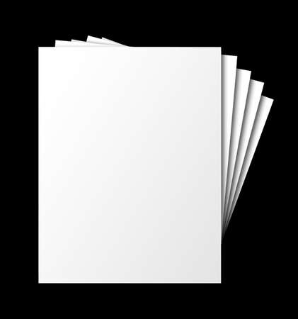 fanned: Fanned, stacked blank papers