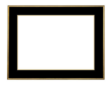 Picture frame in gold leaf with beveled center photo