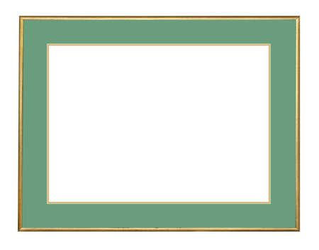 Picture frame in gold leaf with beveled center Stock Photo - 9058024