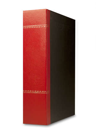 Red, gold and black magazine file or binder, isolated Stock Photo - 9124186