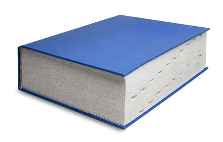 Big book in blue with tabs, isolated with shadow