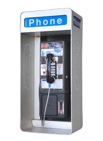 cabina telefono: Tel�fono p�blico al aire libre, aislado