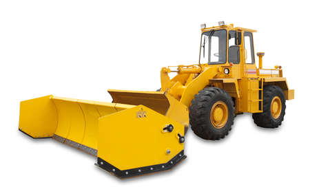 plows: Snowplow excavator, isolated