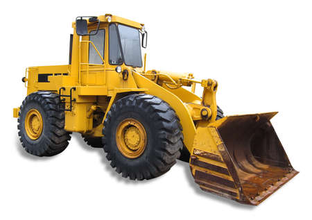 Frontend loader, isolated with shadow Stock Photo - 9376812
