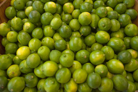 bunched: Limes bunched together on a local farm stand