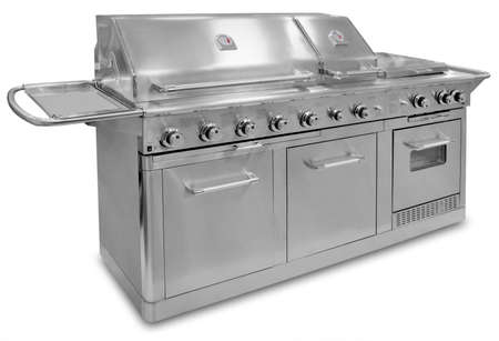 gas stove: Barbecue gas grill in stainless steel