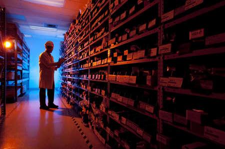 storeroom: Taking inventory Stock Photo