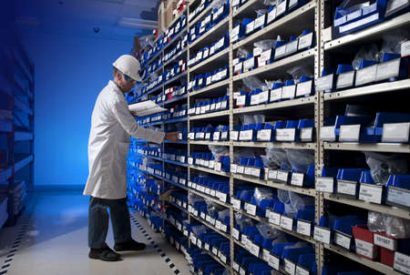 Taking inventory Stock Photo