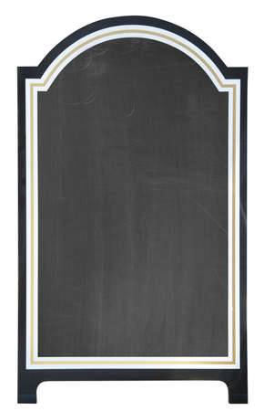 Menu board outside a restaurant or cafe, isolated. photo