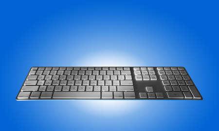 Keyboardon blue or isolated Stock Photo - 9940137
