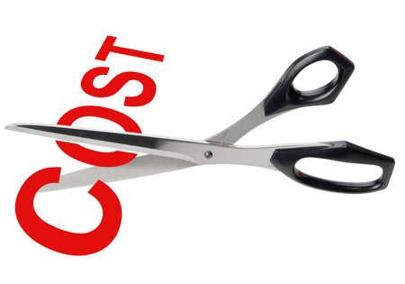 cost savings: Cost cutting scissors