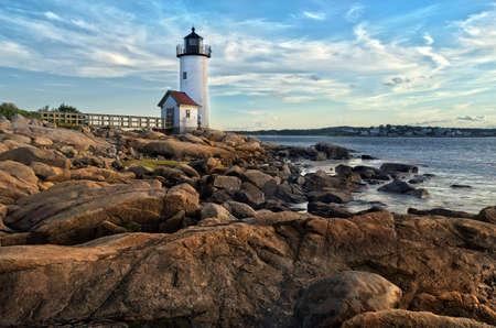 Annisquam lighthouse located near Gloucester, Massachusetts Stock Photo