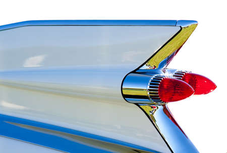 Tail fin to a 1959 Cadillac automobile