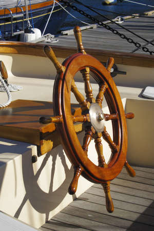 rudder: Steering wheel from a sailing ship