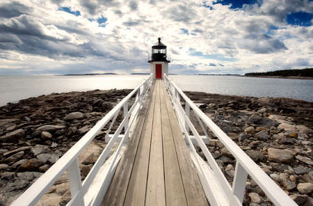 maritime: Marshall point lighthouse photographed in perspective