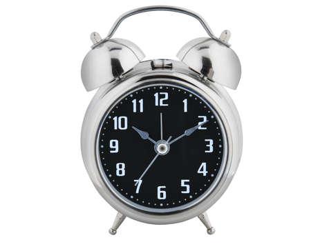 Old style alarm clock isolated on white  Stock Photo - 11438735
