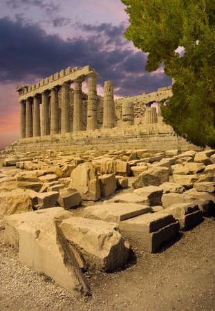 The Parthenon temple on Acropolis citadel, Greece