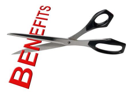 Cutting benefits, isolated Stock Photo - 11914174