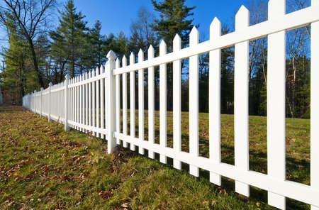 White picket fence Stock Photo - 11996332