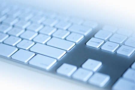 Computer keyboard in blue